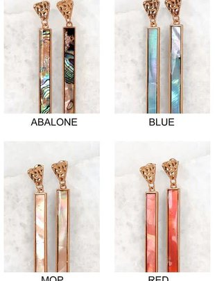 Lucite Long Bar Earrings