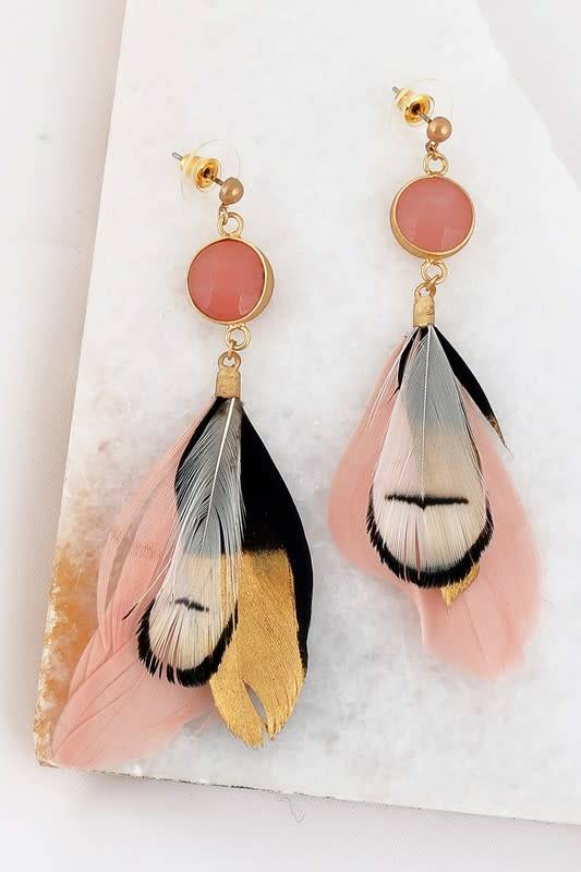 Feather Post Earring