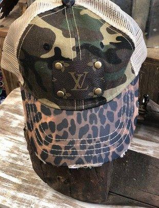 LV Leopard & Camo Cap