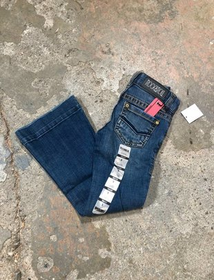 Girls Dark Wash Denim Trouser