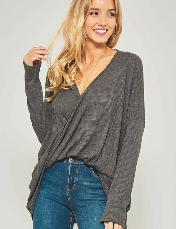 Ladies Twisted Knot Sweater
