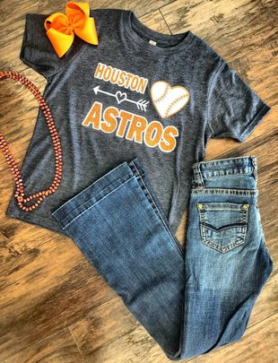 Back Road Beauties Girls Love Houston Astros Tee