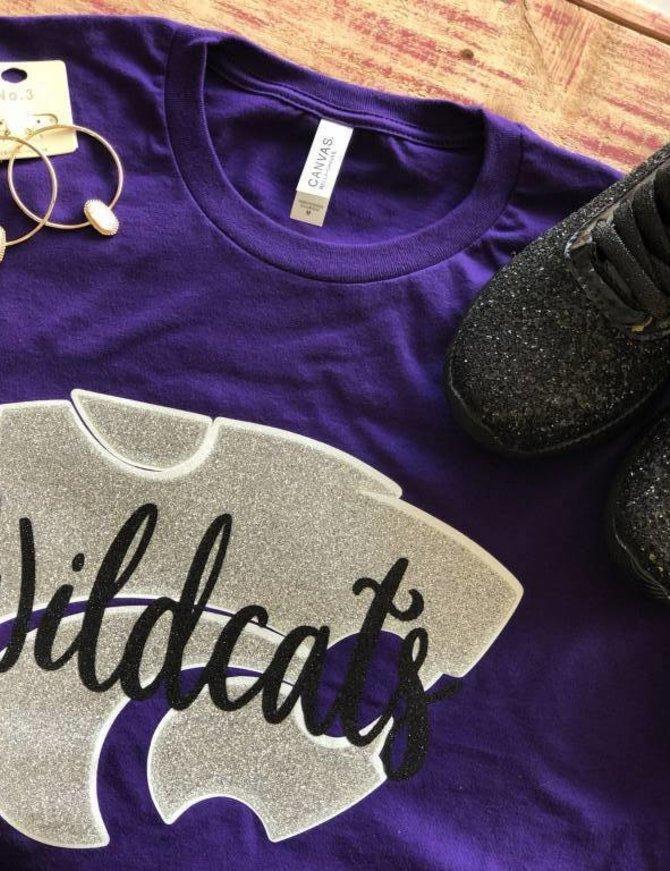 Back Road Beauties Go Wildcats Purple Tee