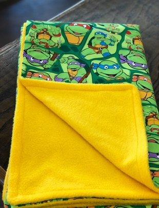 Mommy Designs Ninjia Turtle Fleece Baby Blanket