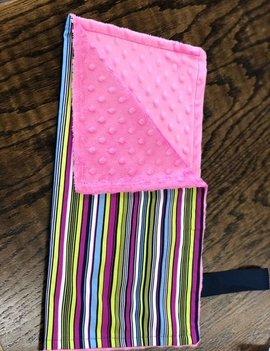 Mommy Designs Binky Blanket Strip w/ Pink Minkie