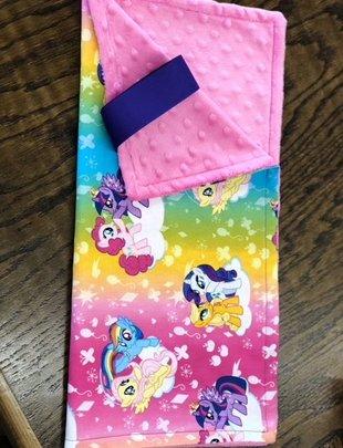 Binky Blanket w/ My Little Pony & Pink Minkie