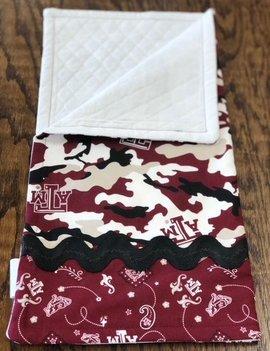 Mommy Designs Binky Blanket w/ Texas A&M