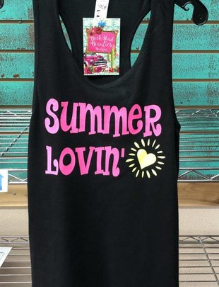 Back Road Beauties Kids Summer Lovin' Black Tank