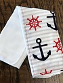 Mommy Designs Anchor-Red-White Burp Pad