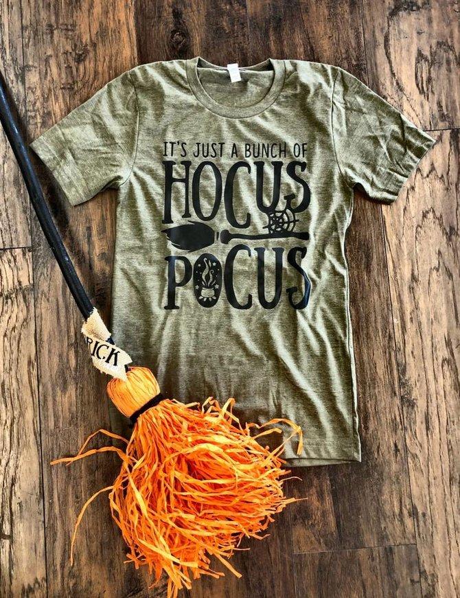 Back Road Beauties Hocus Pocus Olive Tee