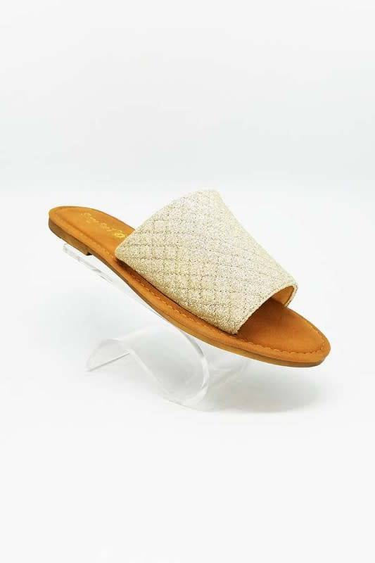 Gold Slip on Sandal