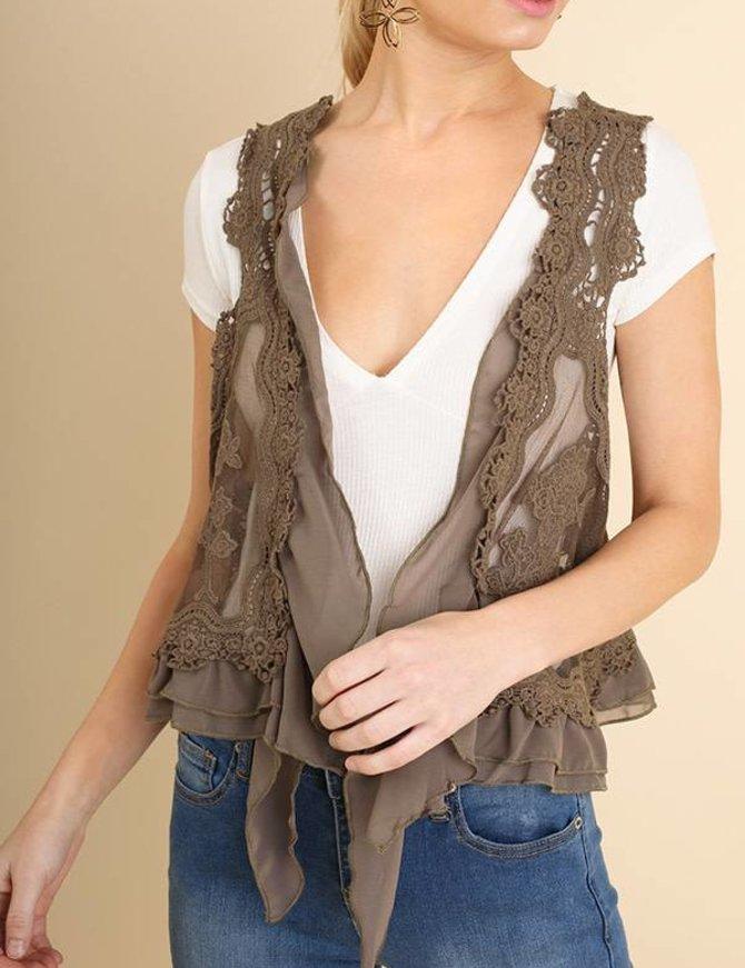 Knit Crochet Vest