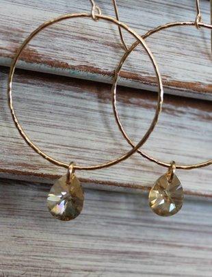 Kendra Kist Large Circle Drop Earring-RG/GS