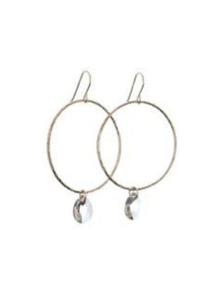 Kendra Kist Large Circle Drop Earring-SS/AB