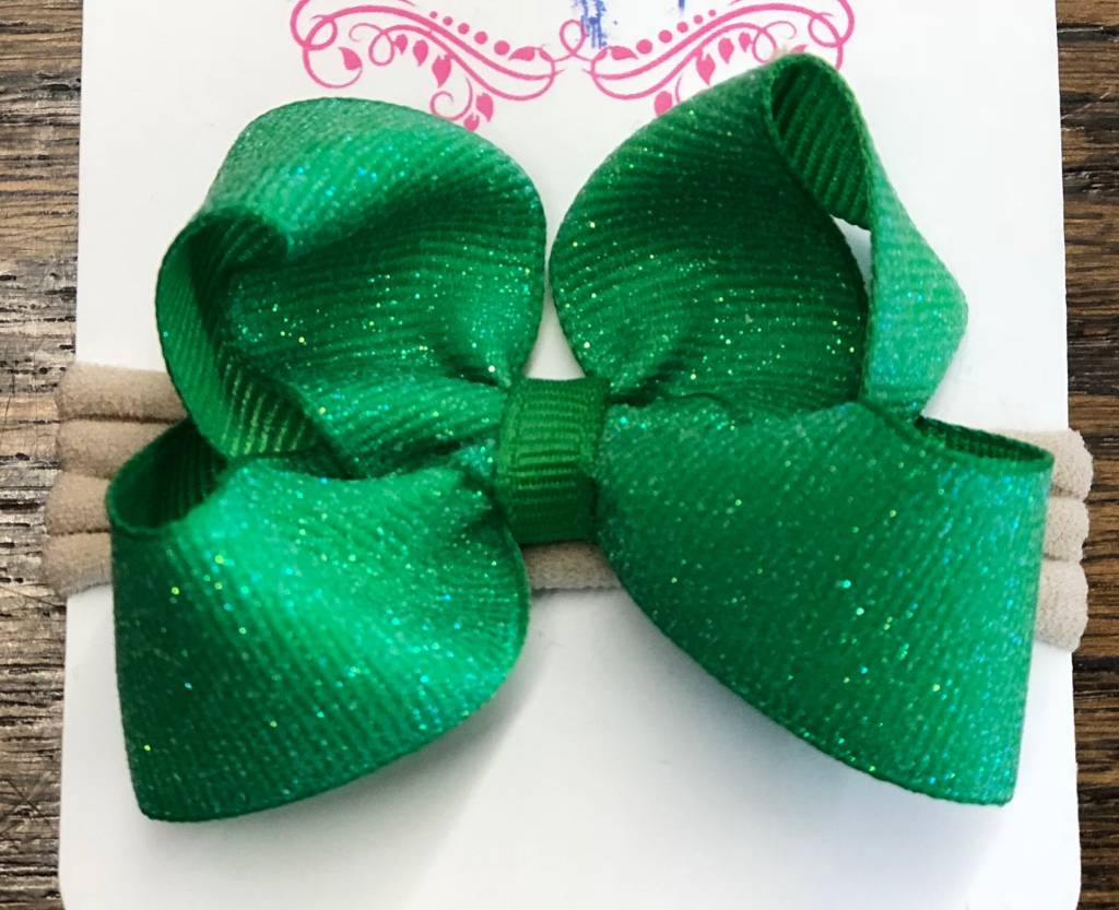 Blondie and Pearl Emerald Dazzle Baby Hedband