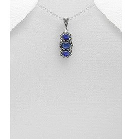 Marcasite W/Blue Necklace