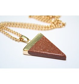 Triangle Gemstone Necklace