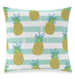 Pillow Pineapple/Aqua Stripe