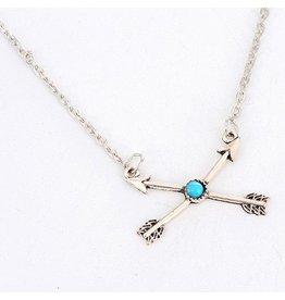 Necklace- Double Arrow
