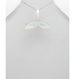 Sterling Necklace- Whale Tail W/MOP