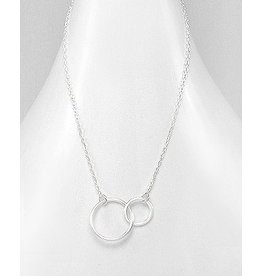 Sterling Necklace- Double Circles