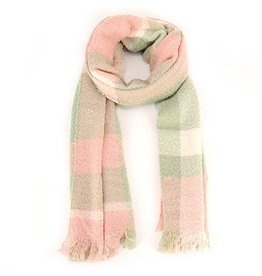 Warm Scarf in Pink/Green