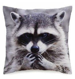 Pillow - Raccoon on Grey