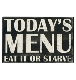 Plaque: Today's Menu