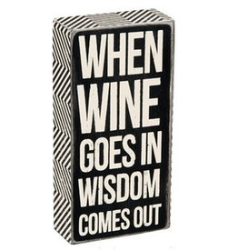 Primitives by Kathy Plaque: Wine Goes In