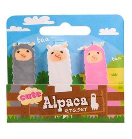 Streamline Alpaca Erasers