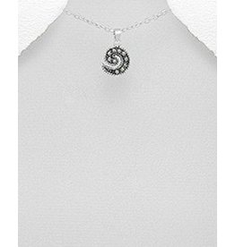 Necklace- Swirl Marcasite