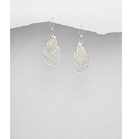 Earring- Drops Leaves W/Mop
