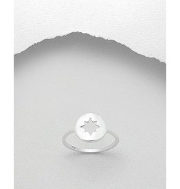 Sterling Ring- Compass