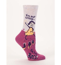 Blue Q Crew Socks-I'm Not Bossy