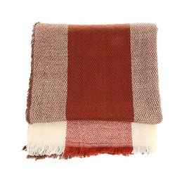 Scarf- Brown Mix Plaid