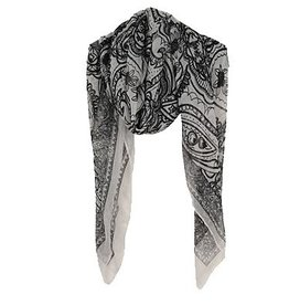 Rock It Scarf- White and Black Floral
