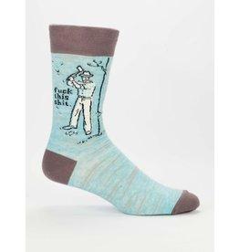 Blue Q Men's Socks-Fuck This Shit