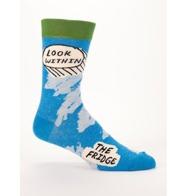 Blue Q Men's Socks- Look Within The Fridge