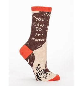 Blue Q Crew Socks-You Can Do it
