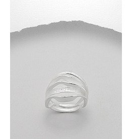 Ring-  Thick Matte Silver Adjustable