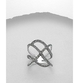 Ring- Large Open Marcasite