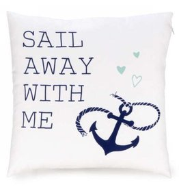 Pillow White SAIL AWAY