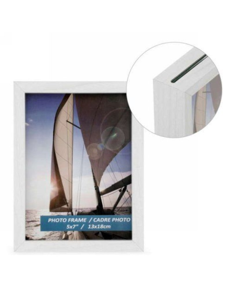 frame double sided white 5x7 - Double Sided Frame