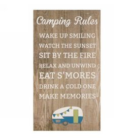 Wall Plaque Camping Rules