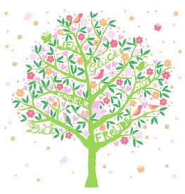 Pink Floral Tree Lunch Napkins