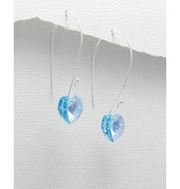 Earrings- Crystal Hearts