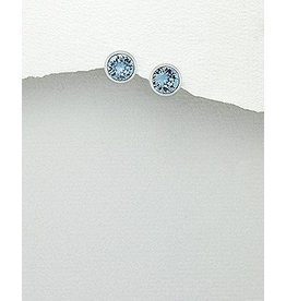 Sterling Swavorski Circular Studs (More Colours)