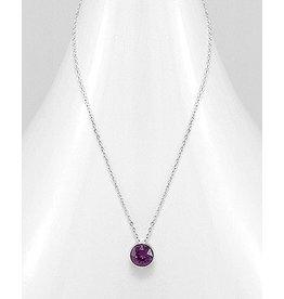 Sterling Necklace- Swavorski Circular