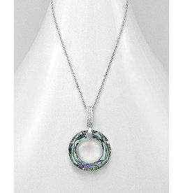 Sterling Necklace- Swarovski Open Circle