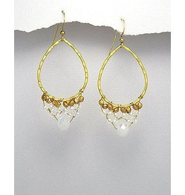Earrings- Golden Oval Circles